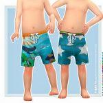 Шорты для купания для малышей Симс 4