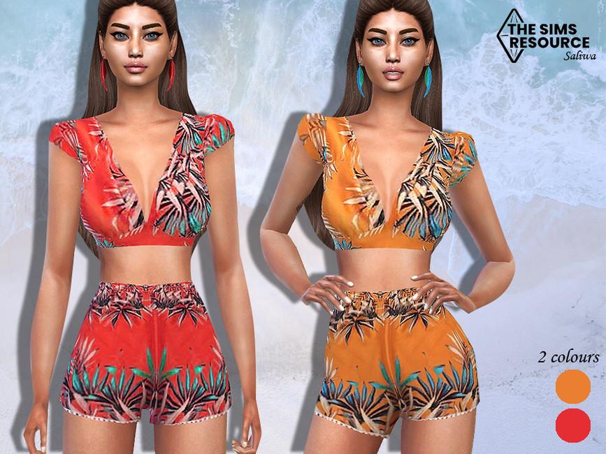 Шорты Summer Shorts Outfit Short Симс 4