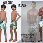 Шорты Swim Shorts Like Daddy Симс 4