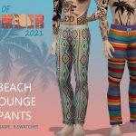 Штаны для мужчин BoS Beach Lounge Pants Симс 4