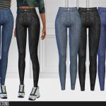 Скачать джинсы с высокой талией Симс 4