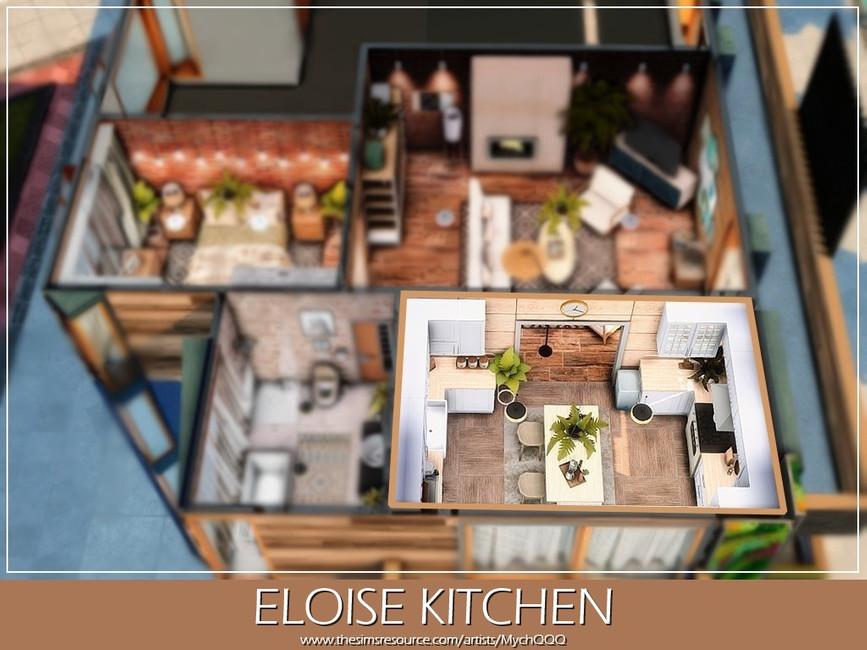 Современная кухня Симс 4 (картинка 5)