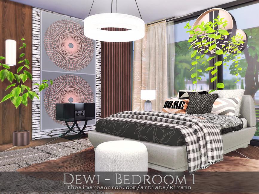 Спальня Dewi - Bedroom 1 Симс 4