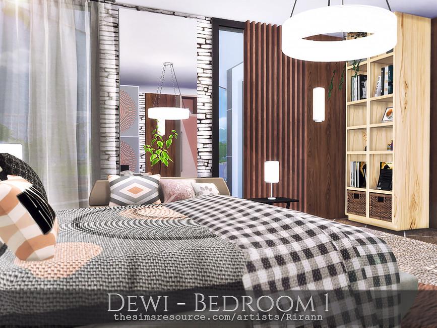 Спальня Dewi - Bedroom 1 Симс 4 (картинка 2)