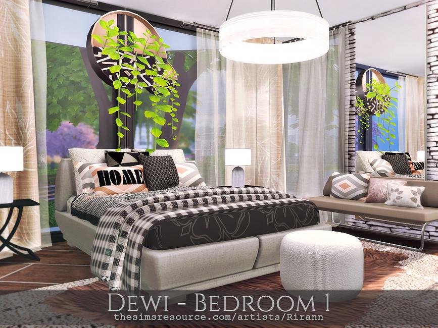 Спальня Dewi - Bedroom 1 Симс 4 (картинка 3)
