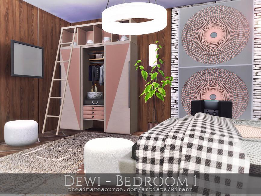 Спальня Dewi - Bedroom 1 Симс 4 (картинка 4)