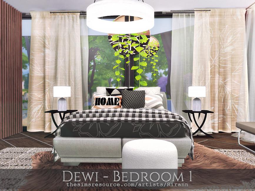 Спальня Dewi - Bedroom 1 Симс 4 (картинка 5)