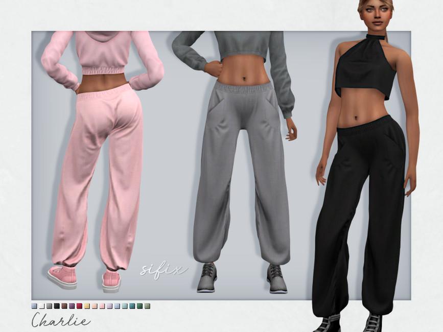 Спортивные штаны Charlie Sweatpants Симс 4