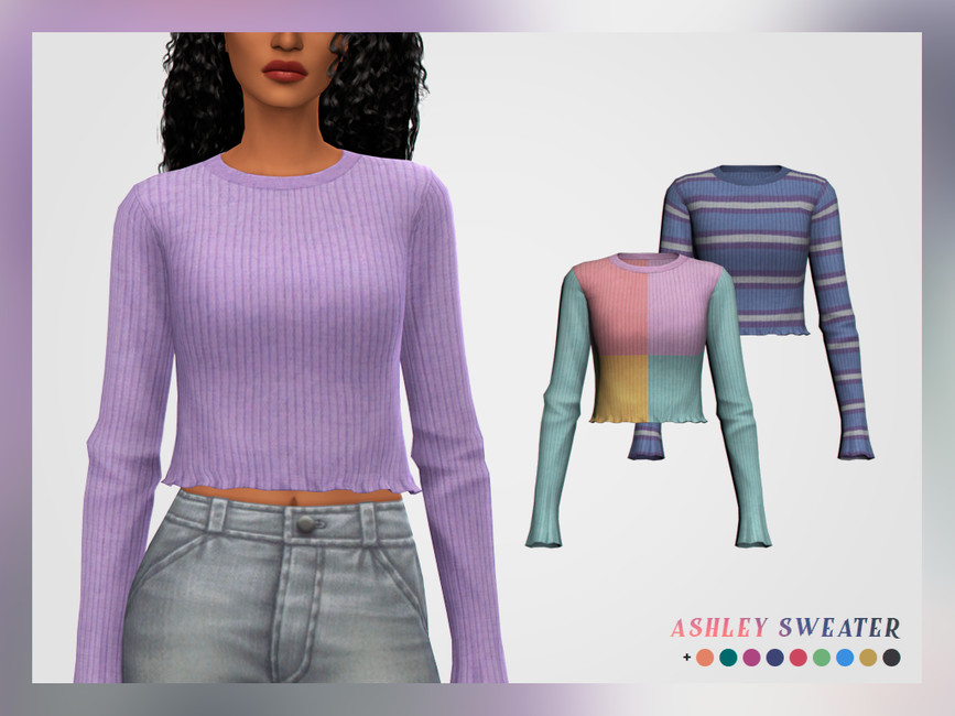 Свитер Ashley Sweater Симс 4