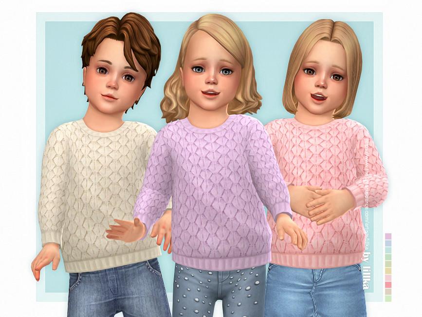 Свитер для детей Cozy Sweater for Toddler Симс 4
