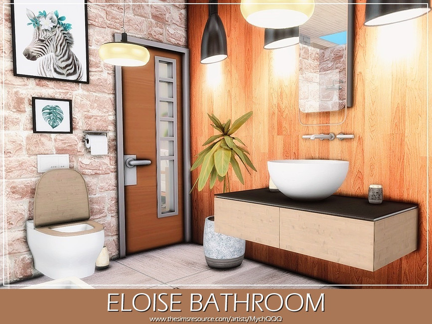 Ванная Eloise Bathroom Симс 4 (картинка 2)
