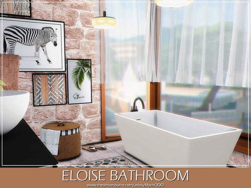 Ванная Eloise Bathroom Симс 4 (картинка 3)
