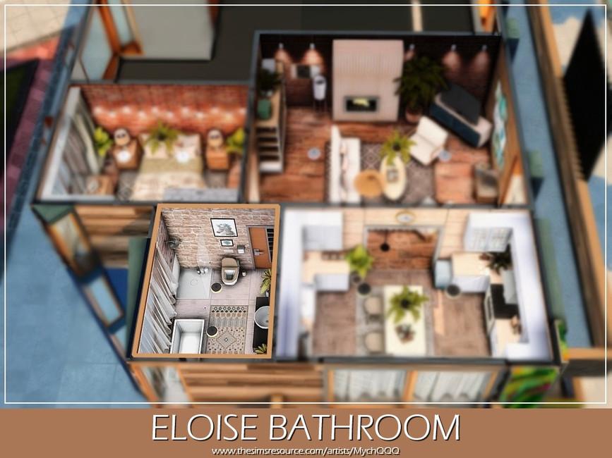 Ванная Eloise Bathroom Симс 4 (картинка 5)