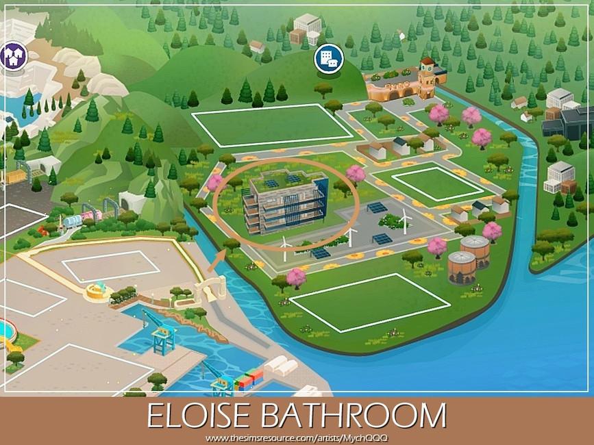 Ванная Eloise Bathroom Симс 4 (картинка 6)