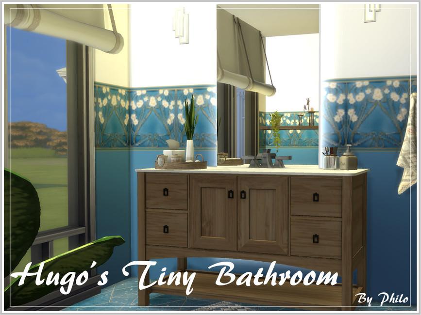 Ванная Hugo's Tiny Bathroom Симс 4