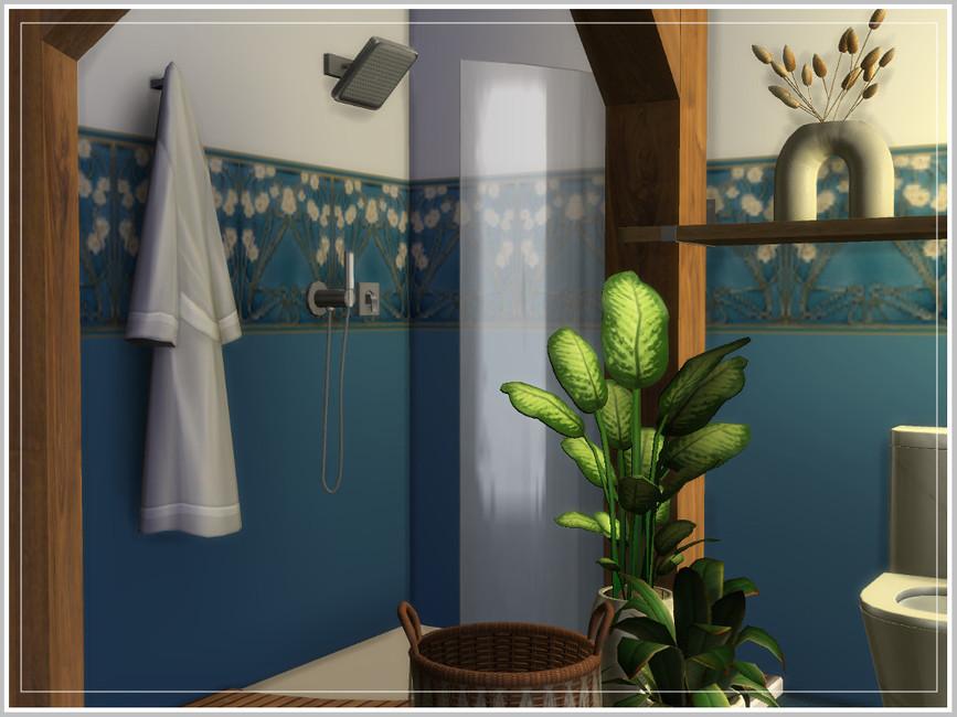 Ванная Hugo's Tiny Bathroom Симс 4 (картинка 2)
