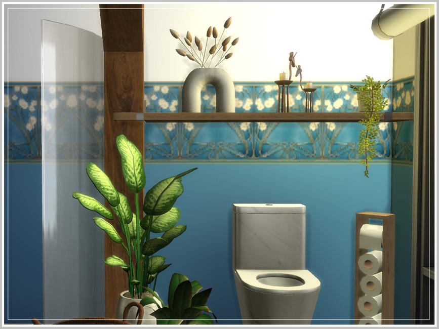 Ванная Hugo's Tiny Bathroom Симс 4 (картинка 3)