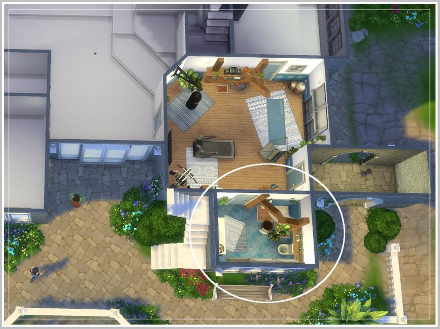Ванная Hugo's Tiny Bathroom Симс 4 (картинка 4)