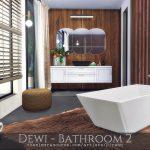 Ванная комната Dewi - Bathroom 2 Симс 4