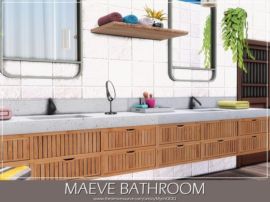 Ванная Maeve Bathroom Симс 4 (картинка 3)