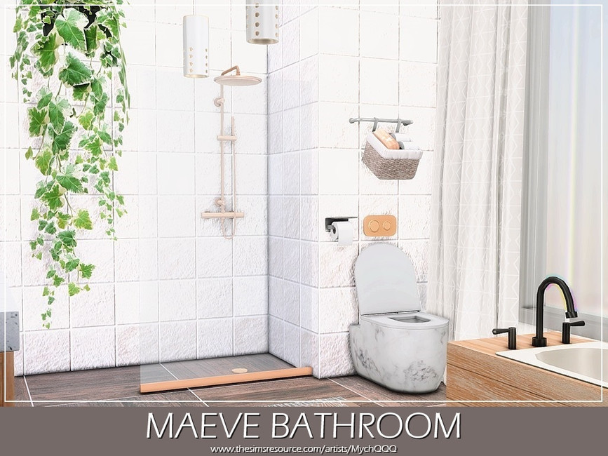 Ванная Maeve Bathroom Симс 4 (картинка 4)