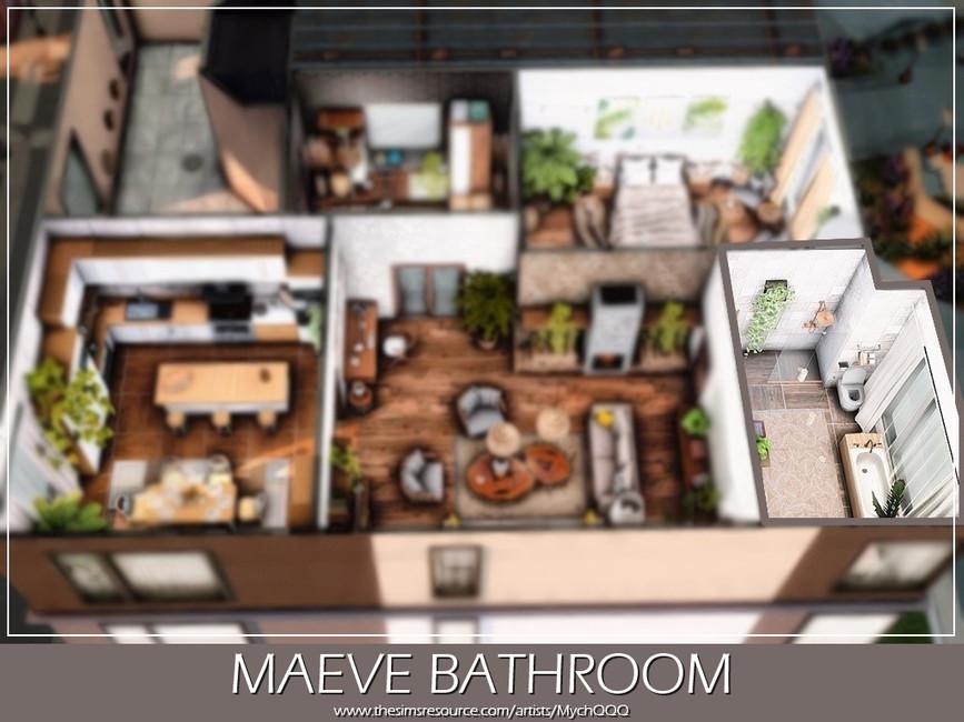 Ванная Maeve Bathroom Симс 4 (картинка 5)