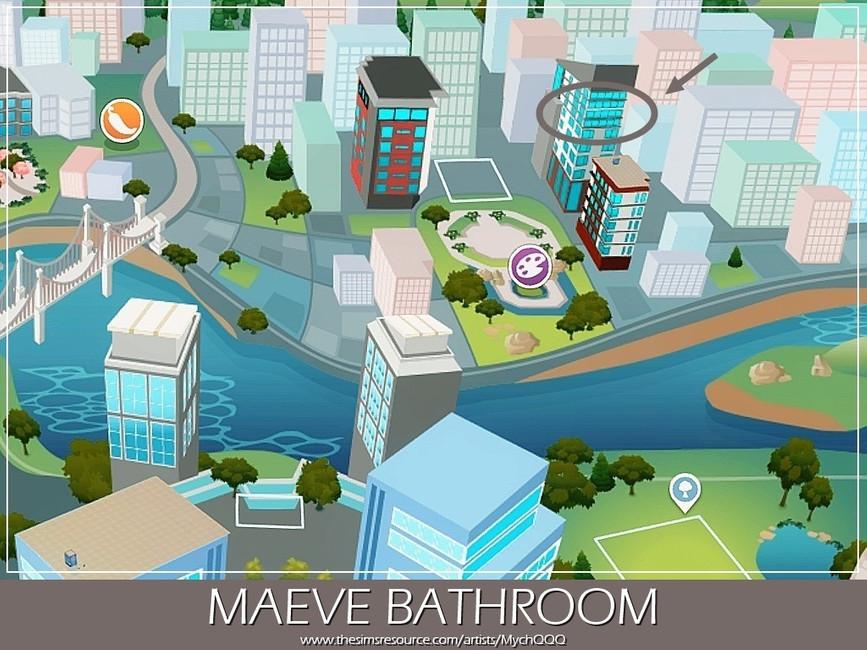 Ванная Maeve Bathroom Симс 4 (картинка 6)