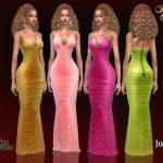 Вечерние платья Renika Satin Dress Симс 4