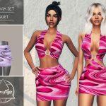 Юбка Olivia Set - Skirt Симс 4