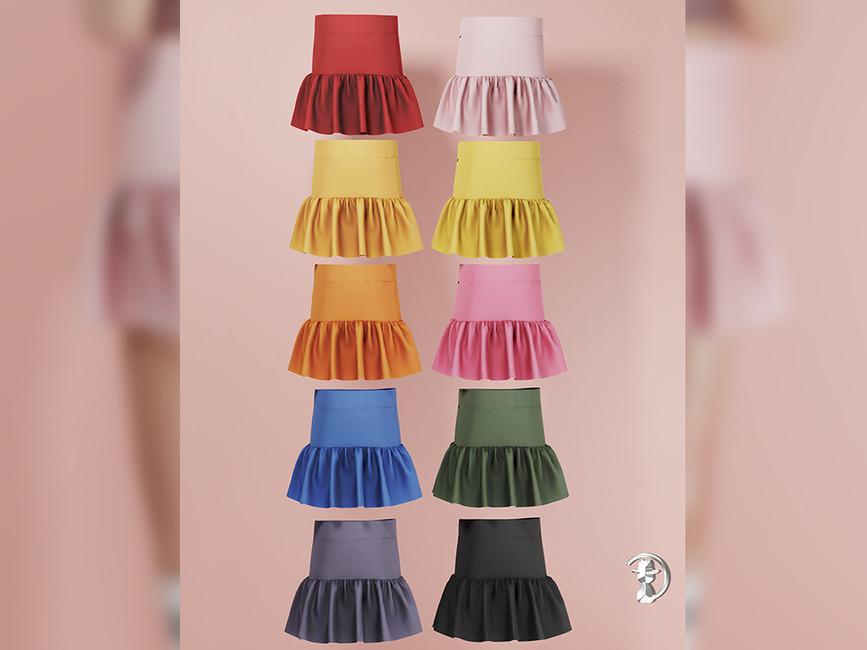 Юбка Skirt Premium04 Симс 4 (картинка 2)
