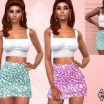 Юбка Summer Skirt Outfit Симс 4