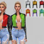 Женская кожаная куртка Симс 4