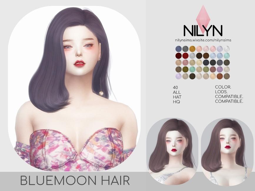 Женская прическа BLUEMOON HAIR Симс 4