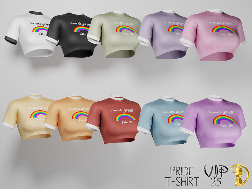 Женские футболки Симс 4 (картинка 2)