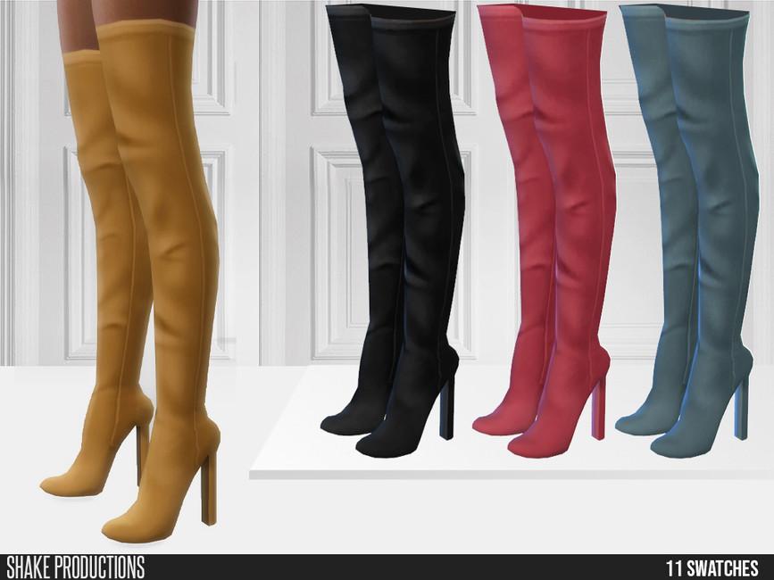 Женские сапоги 724 - High Heel Boots Симс 4