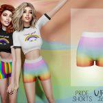 Женские шорты PRIDE Shorts VIP26 Симс 4