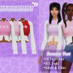 Жилетка Sweater Vest With Shirt Симс 4