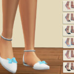 Балетки Ballerina Shoes with Bow Симс 4
