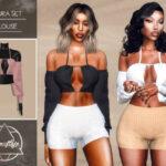 Блузка Laura Set - Blouse Симс 4