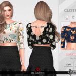 Блузки Summer Blouse 02 For Female Sim Симс 4