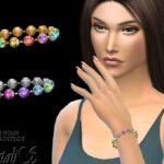 Браслет Multicolor Crystal Chain Bracelet Симс 4