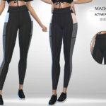 Брюки Maggie - Active Pants Симс 4