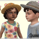 Детская шляпа Hat with Ears Симс 4