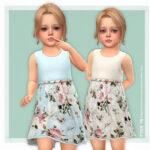 Детское платье Nina Dress Симс 4