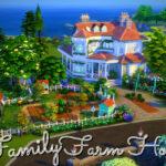 Дом Family Farm House Симс 4