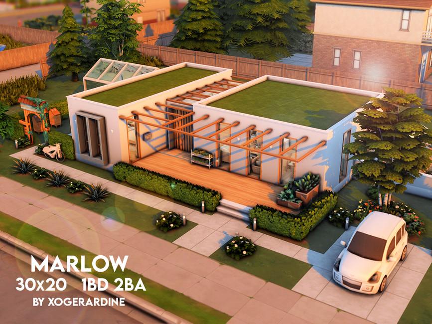 Дом Marlow NO CC Симс 4