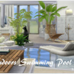 Дом с бассейном Симс 4