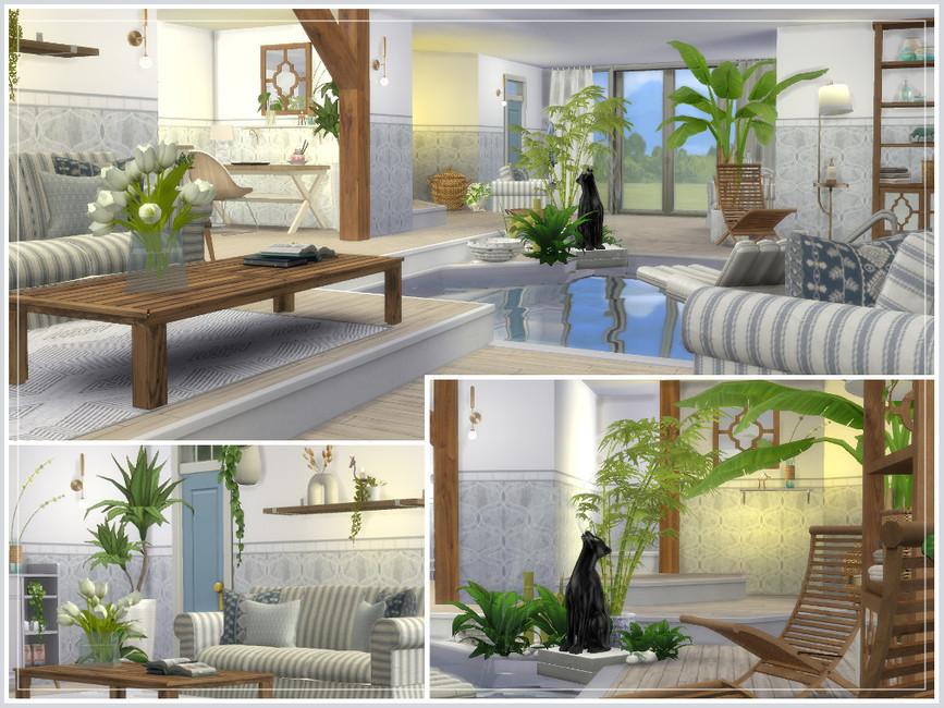 Дом с бассейном Симс 4 (картинка 2)