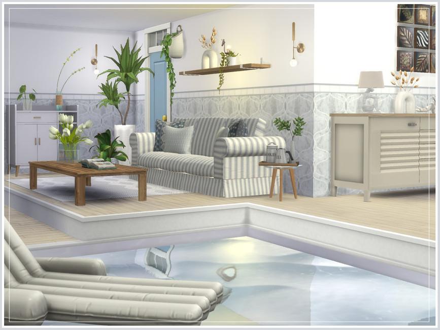 Дом с бассейном Симс 4 (картинка 3)