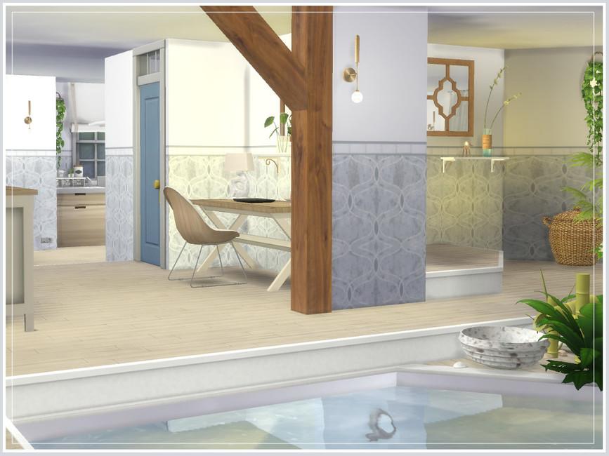 Дом с бассейном Симс 4 (картинка 4)